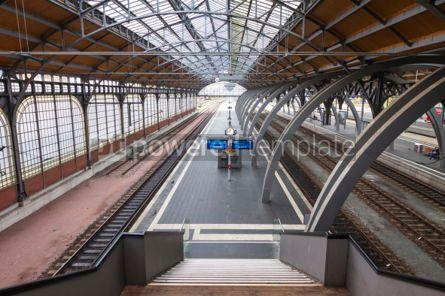 Transportation: Lubeck Hauptbahnhof railway station Germany #07016