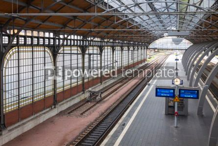 Transportation: Lubeck Hauptbahnhof railway station Germany #07018