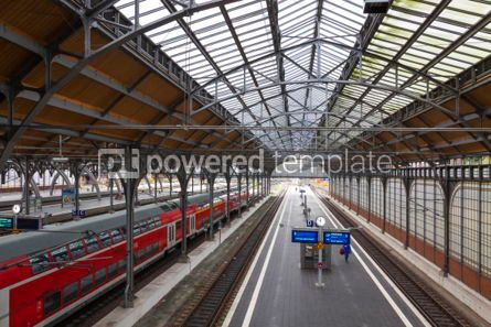 Transportation: Lubeck Hauptbahnhof railway station Germany #07019