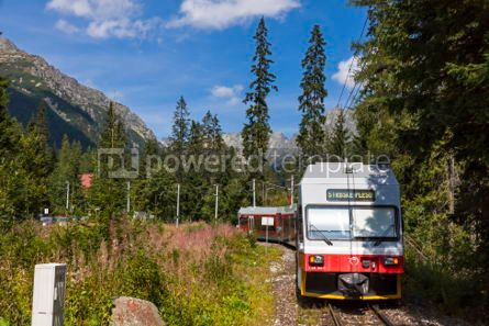 Transportation: Tatra Electric Railways train in High Tatras Slovakia #07024