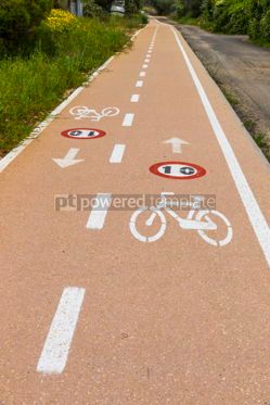 Transportation: Bicycle lanes on Sardinia island Italy #07026