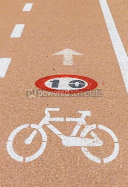 Transportation: Bicycle lanes on Sardinia island Italy #07027
