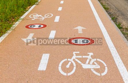 Transportation: Bicycle lanes on Sardinia island Italy #07028