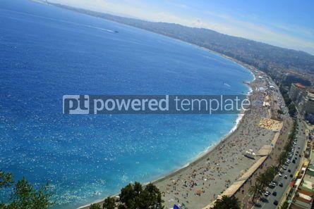 Nature: Azure color of the Mediterranean sea and pebble beach near Prome #07033