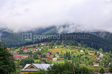 Nature: Vorokhta village in Carpathian mountains Ukraine #07111