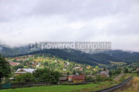 Nature: Vorokhta village in Carpathian mountains Ukraine #07112