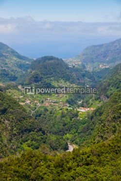 Nature: Aerial view of Madeira island #07113