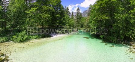Nature: Sava Bohinjka river in Julian Alps Slovenia #07117
