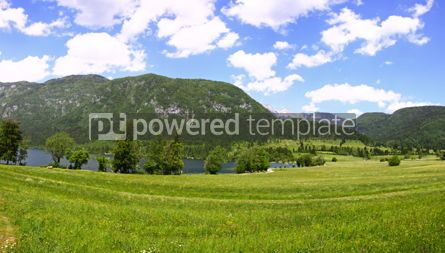 Nature: Panoramic view of mountains and valleys near Bohinj Lake Sloven #07118