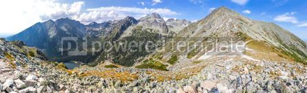 Nature: Panoramic view of High Tatras mountains Slovakia #07120
