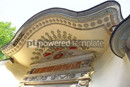 Architecture : Facade details of old ottoman building in Istanbul #07133