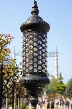 Architecture : Close up details of lamppost in Istanbul #07134