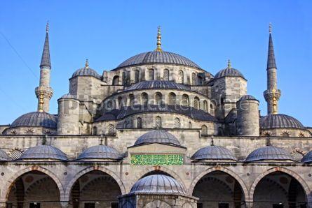 Architecture : Blue Mosque Istanbul Turkey #07139