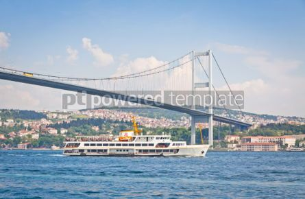 Architecture : Bridge over the Bosphorus strait in Istanbul Turkey #07144