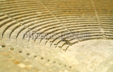 Architecture : The fragment of ancient theatre in Kourion Cyprus (Tilt-shift m #07158