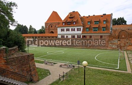 Architecture : Little soccer field in Torun old town Poland #07184