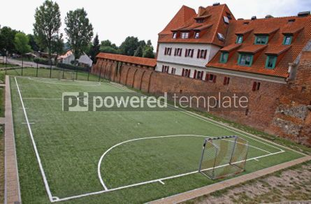 Architecture : Little soccer field in Torun old town Poland #07185