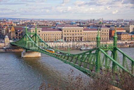 Architecture : Liberty Bridge over Danube river in Budapest #07188