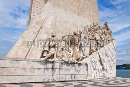 Architecture : Monument to the Discoveries in Belem Lisbon Portugal #07218