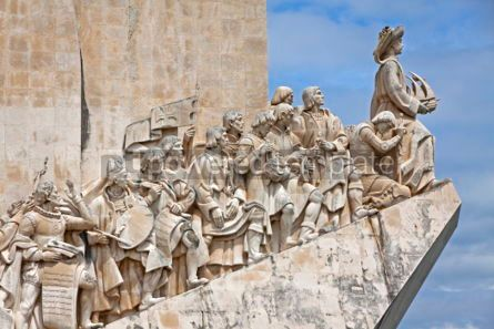 Architecture : Monument to the Discoveries in Belem Lisbon Portugal #07219