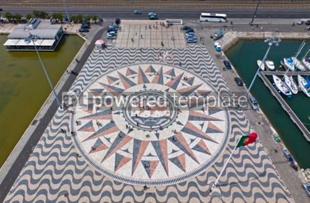 Architecture : Mosaic map of the Portuguese discoveries in Belem Lisbon Portu #07220
