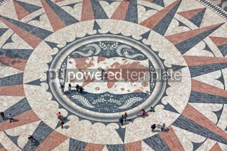 Architecture : Mosaic map of the Portuguese discoveries in Belem Lisbon Portu #07221