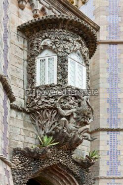 Architecture : Architectural details of the Pena Palace in Sintra Portugal #07229