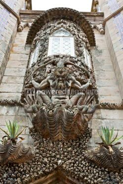 Architecture : Architectural details of the Pena Palace in Sintra Portugal #07230