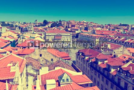 Architecture : Aerial view of  Lisbon old city Portugal #07234
