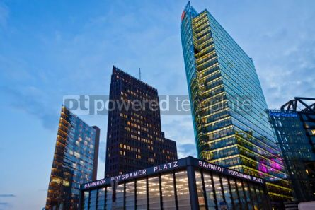 Architecture: Potsdamer Platz - financial district of Berlin Germany #07242