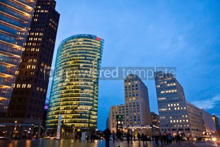 Architecture: Potsdamer Platz - financial district of Berlin Germany #07243