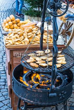 Food & Drink: Traditional polish grilled cheese Oscypek #07342