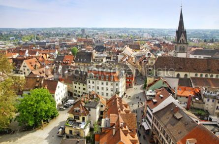 Architecture : Aerial view of Konstanz city Germany #07361