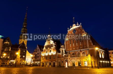 Architecture : Town Hall square Riga Latvia #07366