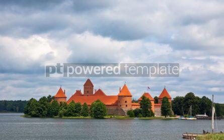 Architecture : View to Trakai castle Lithuania #07367