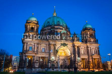Architecture : Evening view of Berlin Cathedral (Berliner Dom) Berlin Germany #07370