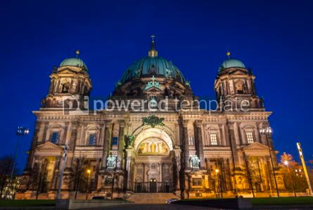 Architecture : Evening view of Berlin Cathedral (Berliner Dom) Berlin Germany #07371