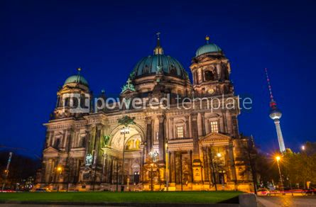 Architecture : Evening view of Berlin Cathedral (Berliner Dom) Berlin Germany #07372