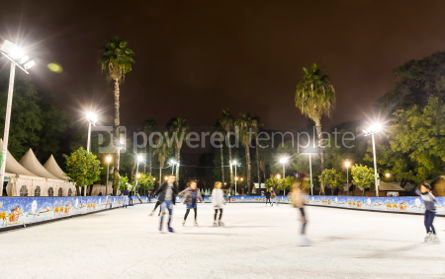 People: Skating rink at Christmas fair in Sevilla Spain #07390