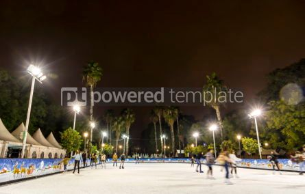 People: Skating rink at Christmas fair in Sevilla Spain #07391
