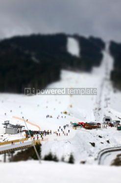 Nature: Ski tracks of Bukovel resort Carpathian mountains Ukraine. Til #07400