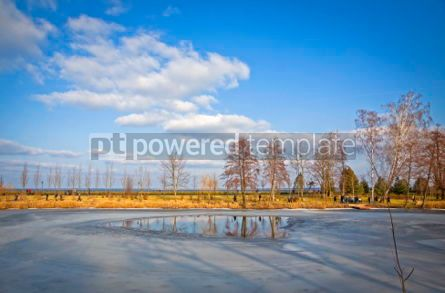Nature: Winter view of lakes and parks near Kyiv Sea Ukraine #07401