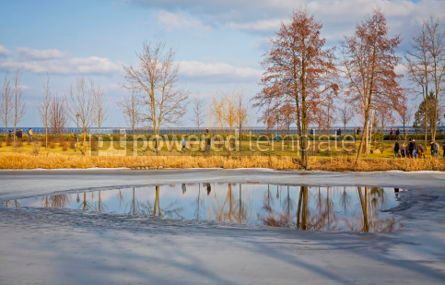 Nature: Winter view of lakes and parks near Kyiv Sea Ukraine #07402