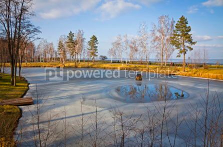 Nature: Winter view of lakes and parks near Kyiv Sea Ukraine #07403