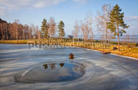 Nature: Winter view of lakes and parks near Kyiv Sea Ukraine #07404