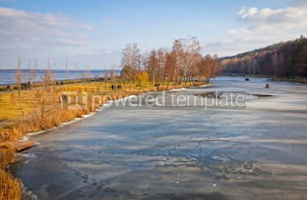 Nature: Winter view of lakes and parks near Kyiv Sea Ukraine #07405