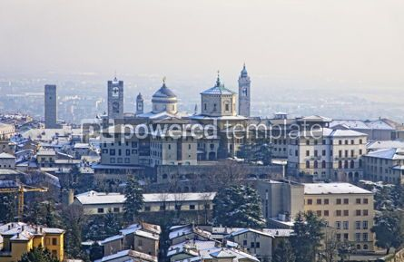 Architecture : Skyline view of Bergamo old town Italy #07408