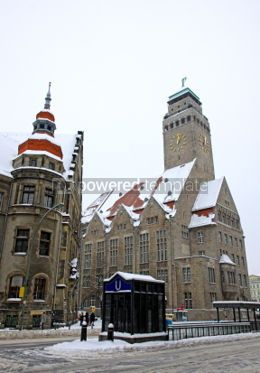 Architecture : Rathaus building of Neukolln inner-city locality in Berlin #07410