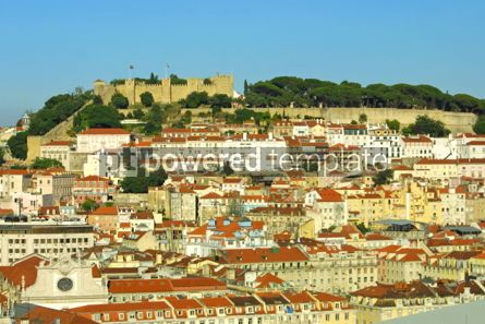 Architecture: Bird view panorama of Lisbon city Portugal  #07416