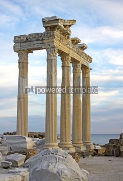 Architecture : Temple of Apollo in early evening Side Turkey  #07418